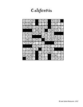California State Crossword Puzzle