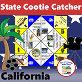 California State Facts and Symbols Cootie Catcher Fortune Teller