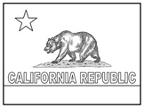 California State Flag {Coloring page}