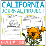 CALIFORNIA History Guided Research Project, Notebook Journal Pages {EDITABLE}