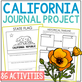 CALIFORNIA History Project, Differentiated State Research Journal {EDITABLE}