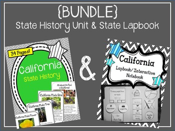 California State History Unit and Lapbook Interactive Notebook {BUNDLE}