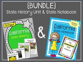 California State History Unit and State Notebook {BUNDLE}