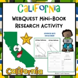 California Webquest Informational Reading Research Activity Mini Book