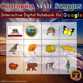 California State Symbols Interactive Digital Notebook for Google Drive®