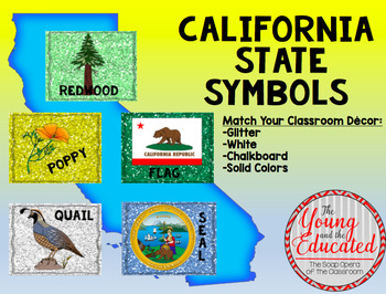 California State Symbols Posters