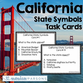 California State Symbols Task Cards
