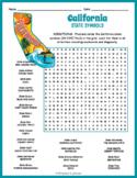 California State Symbols Word Search Puzzle