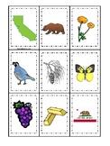 California State Symbols themed Memory Match Game. Preschool Game