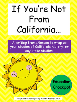 Descriptive State Writing Frame (California Featured)