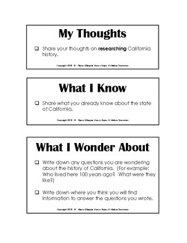 California Study Research Slips - Researcher's Notebook