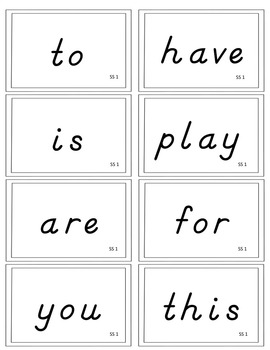 California Treasures First Grade High Frequency Words