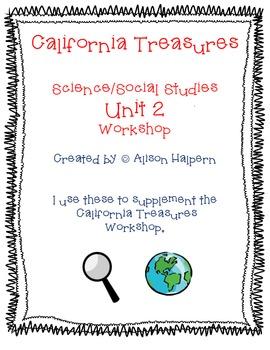 California Treasures First Grade Unit 2 Science/Social Studies Workstations