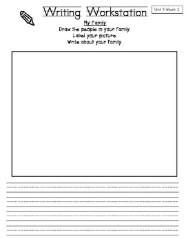 California Treasures First Grade Writing Workstations: Unit 3