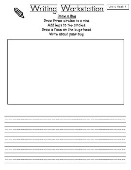 California Treasures First Grade Writing Workstations: Unit 6
