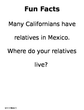 California Treasures Gr 4 Unit 1 Big Question, Theme Connection, and Fun Facts