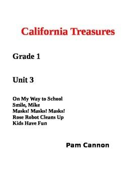 California Treasures Grade 1 Unit 3 Questions and Activities