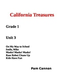 California Treasures Grade 1 Unit 3 Questions and Activities