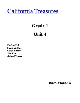 California Treasures Grade 1 Unit 4 Questions and Activities
