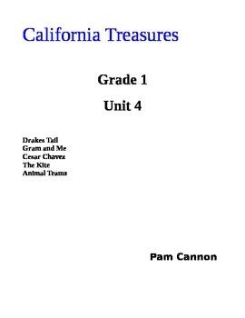 California Treasures Grade 1 Unit 4 Questions and Activities