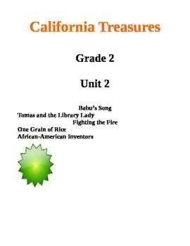 California Treasures Grade 2 Unit 2 Questions and Activities