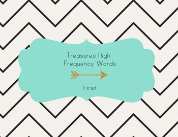 California Treasures First Grade High Frequency Words Assessment for iPad