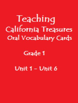 Teaching California Treasures Oral Vocabulary Cards