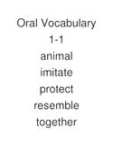 California Treasures Oral Vocabulary grade K