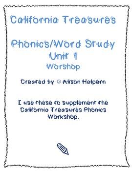California Treasures Phonics/Word Study Unit 1