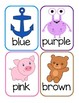 Color Recognition Flashcards: FREEBIE