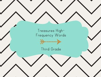 California Treasures Third Grade High Frequency Words Assessment for iPad