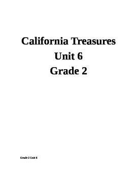 California Treasures Unit 6 Grade 2