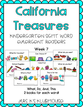 California Treasures Week 7 Emergent Readers + BONUS Sight Word Crowns