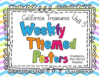 California Treasures Weekly Posters Unit 5