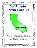 California Trivia Toss-Up Activity- State Geography