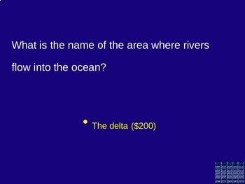 California Valley Region Jeopardy