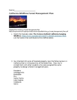 California Wildfires Forest Management Plan