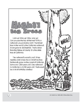 California's Redwoods: The Tallest Tree in the World: U.S. Facts for Grades 1-3