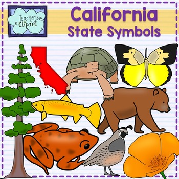 California state symbols clipart
