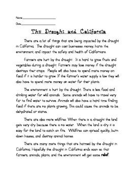 California's Drought Mini Unit