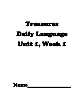 California's Treasures Unit One Daily Language