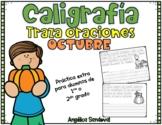 Caligrafía para el mes de octubre /Penmanship Practice October