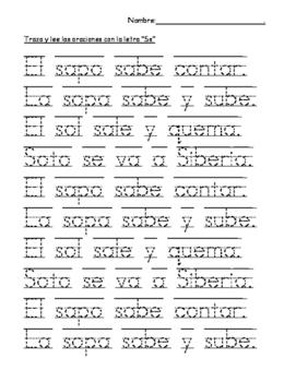 Caligrafía y Lectura - letras_sílabas_oraciones