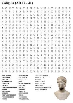 Caligula Word Search