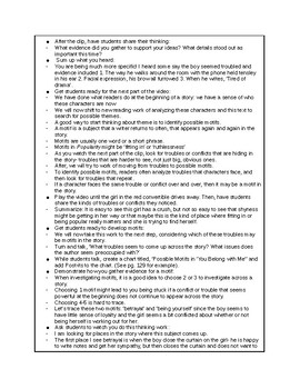 Calkins' A Deep Study about Characters grades 6-8 Cheat Sheets for BEND 3