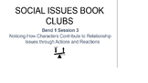 Calkins Social Issues Book Club BUNDLE Bends 1-3 Cheat She