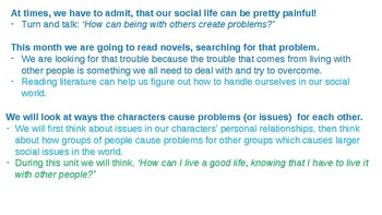 Calkins' Social Issues Book Clubs for Grades 6-8 PowerPoint for BEND 1