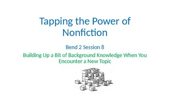 Calkins' Tapping the Power of Nonfiction grades 6-8 PowerPoint for BEND 2