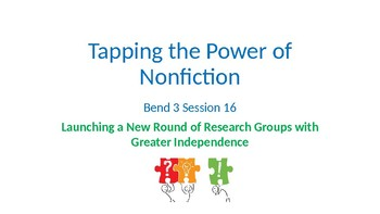 Calkins' Tapping the Power of Nonfiction grades 6-8 PowerPoints for BEND 3