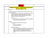 Calkins - Writing About Reading - Bend 2 Lesson Plans